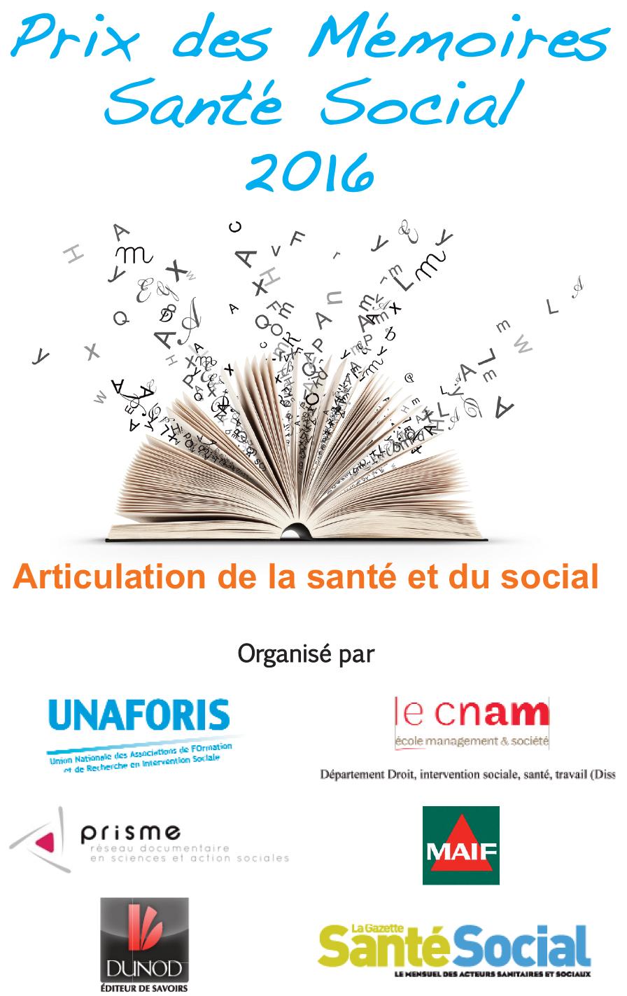 Prix des Mémoires 2016
